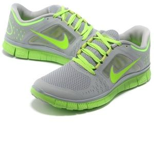newest 4b2ce c3a27 Nike Free Run 3 sz 8 gray lime green running shoes